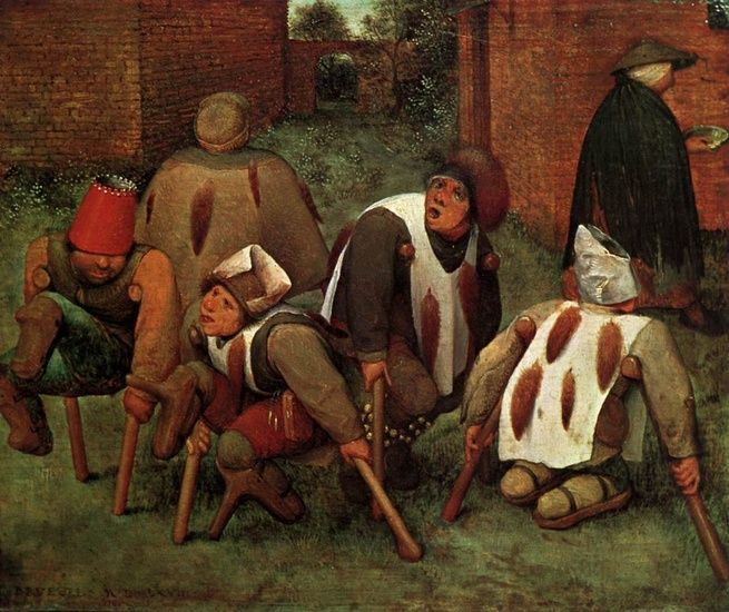 """The Cripples"" Pieter Bruegel the Elder - Oil"