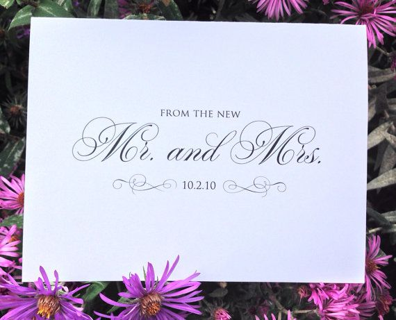 Personalized Wedding Thank You Notes - THANK YOU NOTES - Set of 12 Folded Personalized Stationery / Stationary note cards on Etsy, $10.00 #stationery #personalizedstationery #thankyounotes