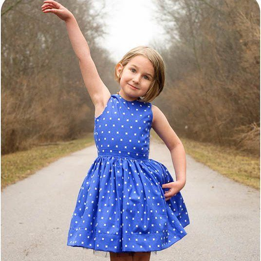 The Appelstroop Dress is wonderful for the warmer days (if it would ever actually get warm here!  It was 20 F here this morning!!!) #sewing  #sewingforgirls  #sewingpattern  #childfashion