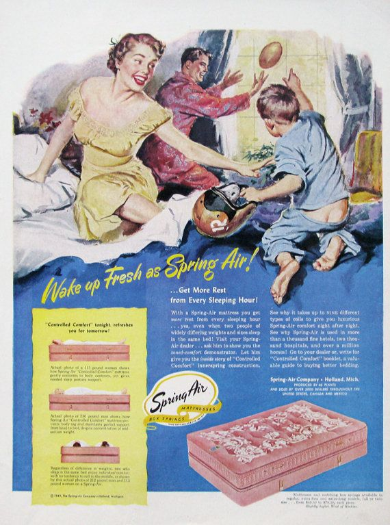 1949 Spring Air Mattress Ad, #RetroReveries