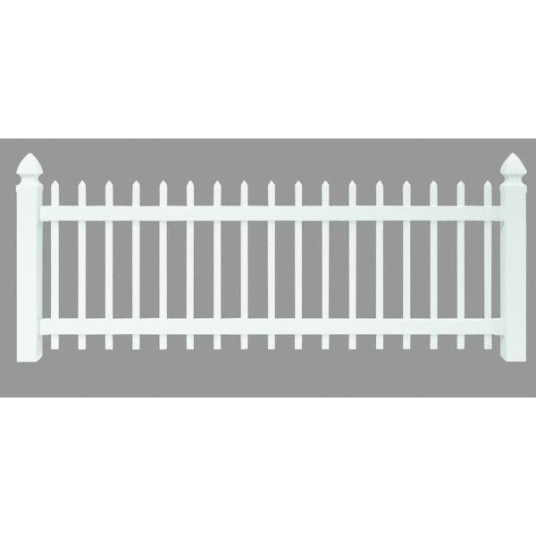 Universal Forest Products 128003 Vinyl Spaced Picket Yard Fence Section 3u0027  X 8u0027 White. Garden FencesSmall ...