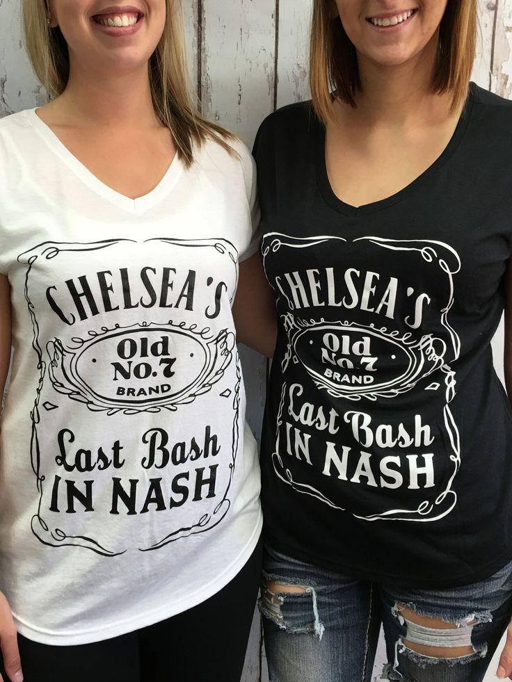 Last Bash In Nash - Custom Bulk Bridal Party VNecks