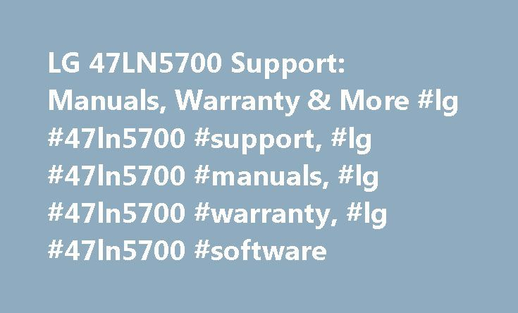 LG 47LN5700 Support: Manuals, Warranty & More #lg #47ln5700 #support, #lg #47ln5700 #manuals, #lg #47ln5700 #warranty, #lg #47ln5700 #software http://guyana.remmont.com/lg-47ln5700-support-manuals-warranty-more-lg-47ln5700-support-lg-47ln5700-manuals-lg-47ln5700-warranty-lg-47ln5700-software/  # 47LN5700 Support Detailed applicable model list. Please check with reference Tab exactly 1. Improvement 1) Disable the skype due to spec out. 2. Applicable model list 60LA7400-UA 55LA7400-UD…