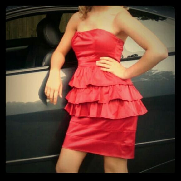 FLASH SALE Sexy Red Formal Dress Great Condition. Great for a night out or a formal dance! :) only worn once Ruby Rox Dresses
