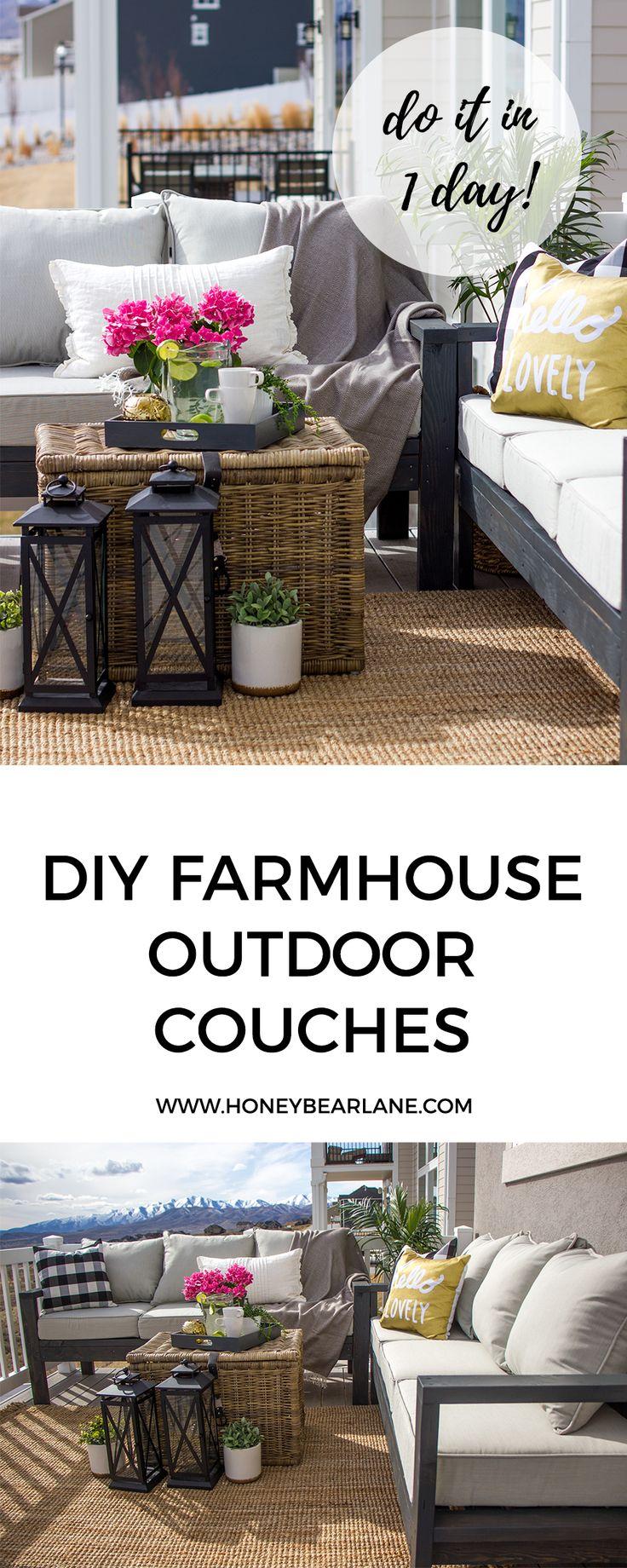 Amazing Diy Farmhouse Outdoor Couches | Diy Farmhouse Table | Diy Farmhouse Decor |  Diy Farmhouse |