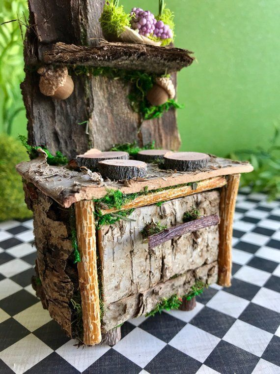Miniature Fairy Stove Fairy Furniture Fairy Dollhouse Etsy Fairygardening Fairy Furniture Fairy House Diy Fairy Garden Furniture