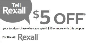 Rexall $5 OFF Coupon on http://www.canadafreebies.ca/