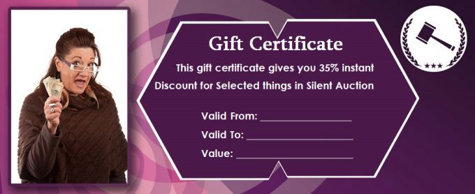 Silent Auction Gift Certificate Templates Gift Certificate