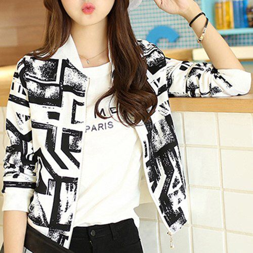 Trendy Abstract Baseball Jacket £30 Available On Our Website www.kandiclothesboutique.com