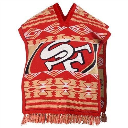 San Francisco 49ers NFL Football Team Logo Unisex Poncho
