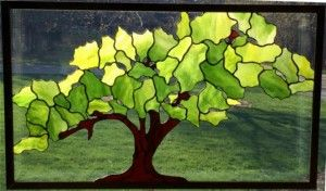 """""""Tree of Life"""" Stained Glass Panel Design © 2015 Paned Expressions Studios - Fabricated by Jack Driscoll"""