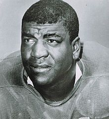 Night Train Lane. DInah Washington's 7th husband, the one who wolke one morning in 1963 to find her dead of an overdose at 39. He would play another two years & go on to the Hall of Fame.