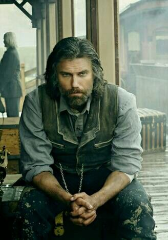 Anson Mount as Cullen Bohannon in Hell on Wheels! I have no words......