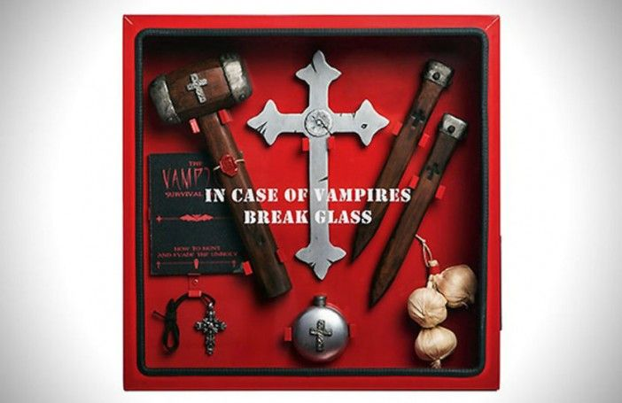 These tools will protect you from zombies and vampires.- Froot.nl