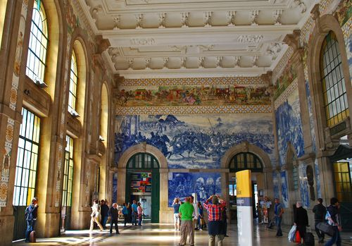 São Bento is translated as Saint Benedict and the spot on which the station is built was a Benedictine Monastery from the 16th to 19th centuru, Sao Bento Train Station, Porto, Portugal
