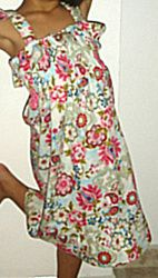 A girls summer dress found at ALLFREESEWING, where they have tons of patterns for FREE!