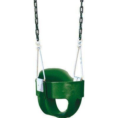 Bucket Toddler Swing with Chain by Playtime Swing Sets. $54.95. AA929-262 Features: -Secure and safe 360 degree design envelops child.-Metal chain sides.-Spring steel insert.-Swing set accessory makes great addition to swing sets. Construction: -Durable plastic construction.