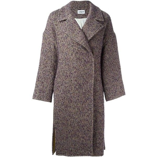 Cacharel Single Breasted Tweed Coat ($546) ❤ liked on Polyvore featuring outerwear, coats, multicolour, colorful coat, tweed coat, single-breasted trench coats, cacharel and multi colored coat