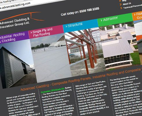 Advanced Cladding Website Design and Build