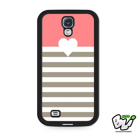 Pastel Geometric Love Stripe Samsung Galaxy S4 Case