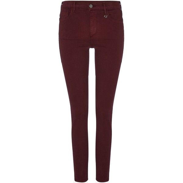 True Religion Joan Smalls mid rise legging jean ($295) ❤ liked on Polyvore  featuring. Sexy JeansWomen's JeansBurgundy ... - 19 Best True Religion!❣ Images On Pinterest