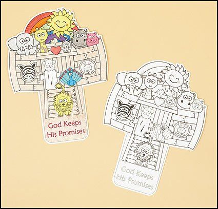 Youth Kids Color Your Own Noah's Ark God Keeps His Promises Religious Sunday School Arts & Crafts Activity