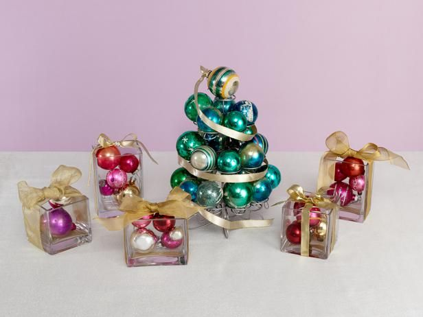 380 best christmas table decorations images on pinterest christmas centerpiece ideas from food network ornaments off the tree turn your cupcake tier and some simple square glass vases into a centerpiece that mimics a tree solutioingenieria Images