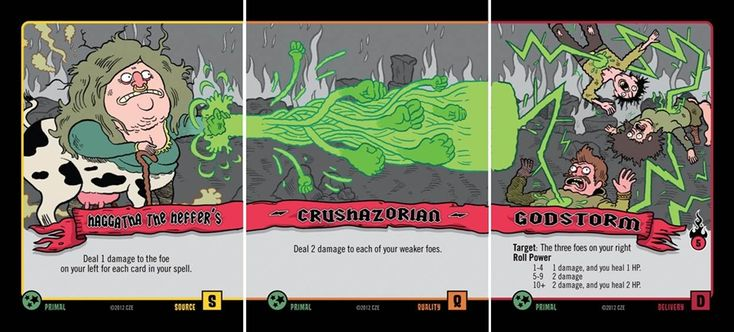 cards from the game Epic Spell Wars.