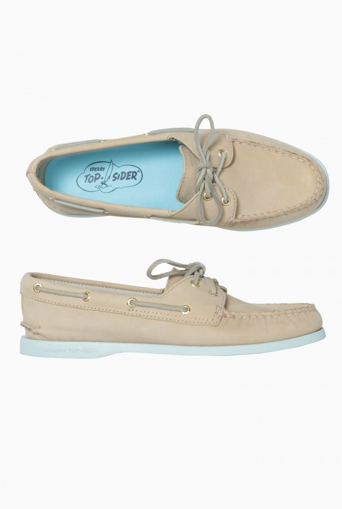 Womens Leather Sperry Deck Shoe- Tan £85.00