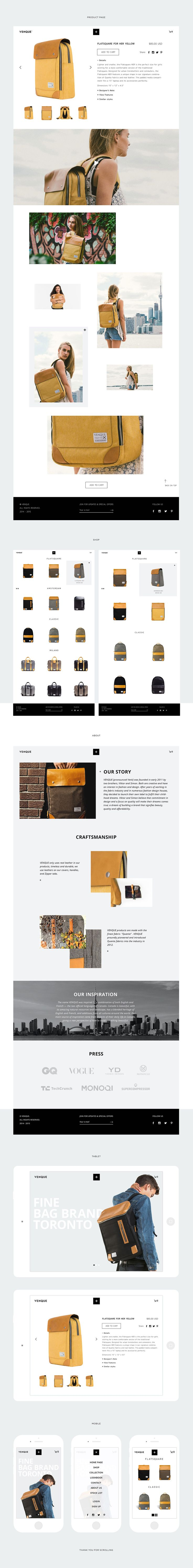 Venque rebranding on Web Design Served