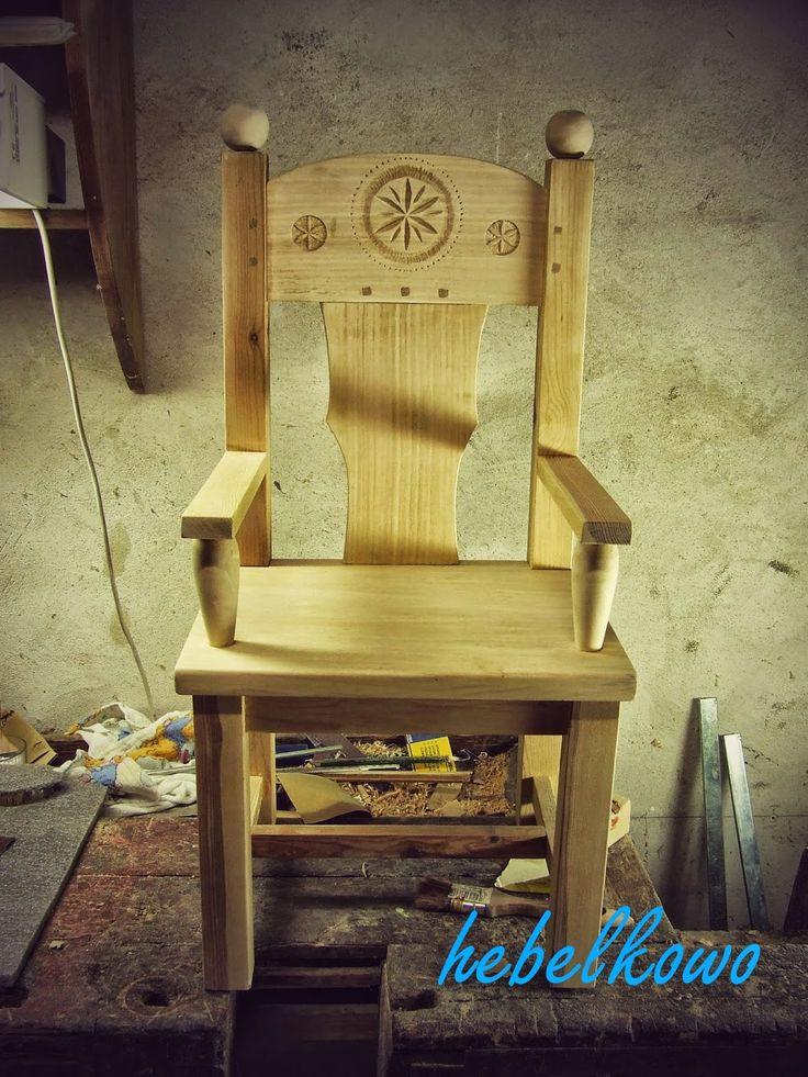 Wooden throne