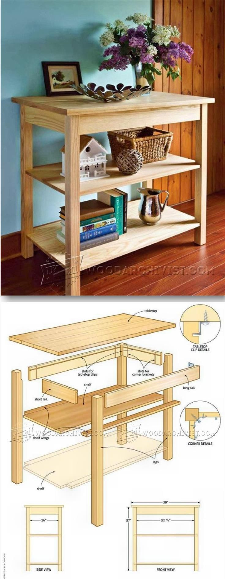 Ash Table Plans - Furniture Plans and Projects | http://WoodArchivist.com?utm_content=bufferbac02&utm_medium=social&utm_source=pinterest.com&utm_campaign=buffer