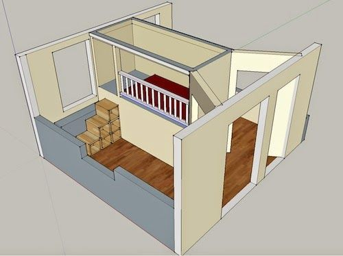 Extreme Bunk Beds Thinking Outside The Box Dividing One Room Into