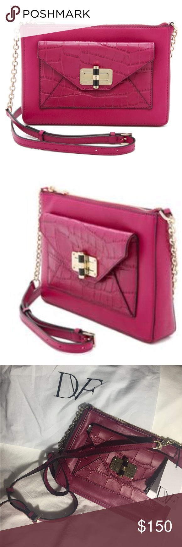 Diane von Furstenberg Cerise bag. Brand new DVF bag with tags and dust bag. Diane Von Furstenberg Bags Shoulder Bags