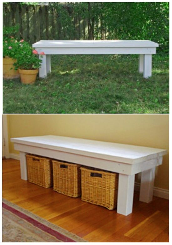 DIY Bench Tutorial Be Great By The Front Door For Shoes For The Home Pin