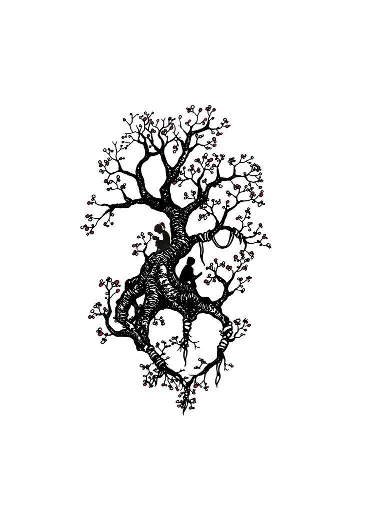 Nice Tree Tattoo Design