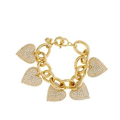 Pavé heart bracelet