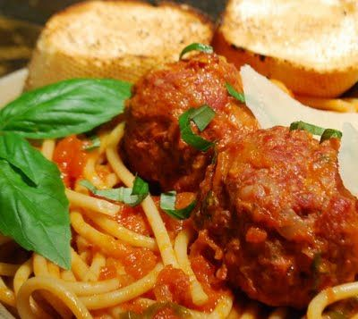 Wolfgang Puck's Special Spaghetti and Meatballs