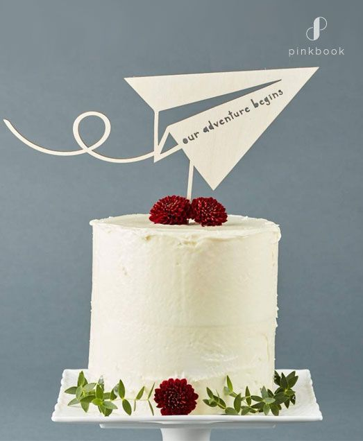 34 Unique Wedding Cake Toppers | Pink Book Wedding Inspiration