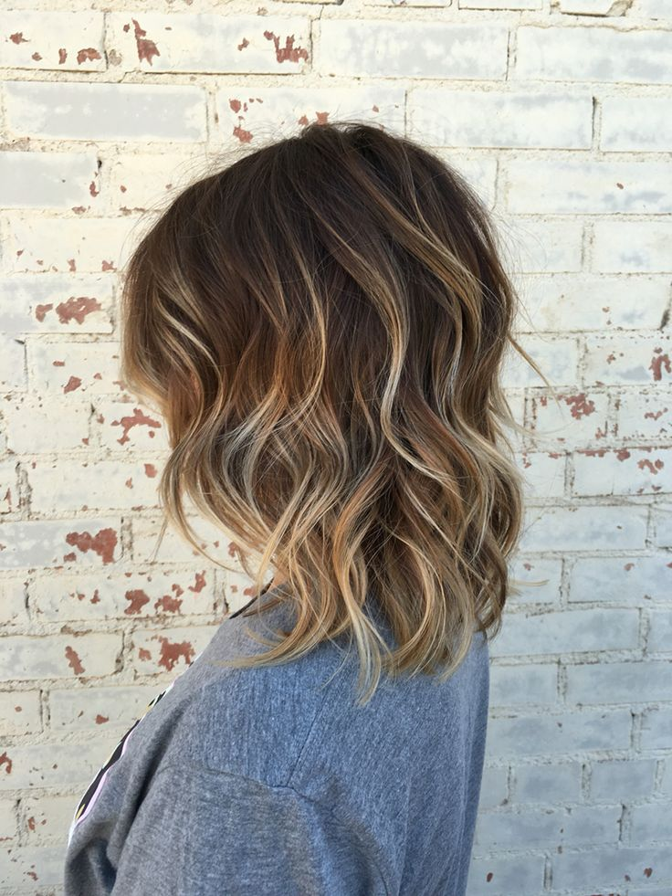 Balayage, brown hair, brown balayage, hair, short hair, highlights,