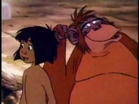"""Best Film Clips: The Jungle Book (Disney 1967) Mowgli/King Louis  scene """"I Wanna Be Like You"""" • http://en.wikipedia.org/wiki/The_Jungle_Book_(1967_film) • http://www.imdb.com/title/tt0061852/?ref_=nv_sr_2"""