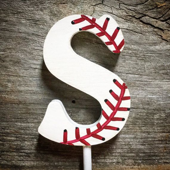 Cake Topper-Baseball Wedding Cake Topper-Wedding Decoration-Baseball Theme Wedding-Baseball Wedding-Reception Décor Each Baseball themed monogram wedding cake toppers are a MDF wood that is precision