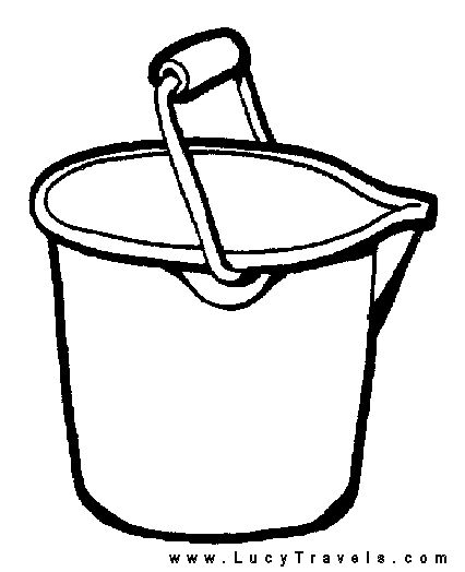 Printable sand bucket coloring page sketch coloring page for Sand bucket template