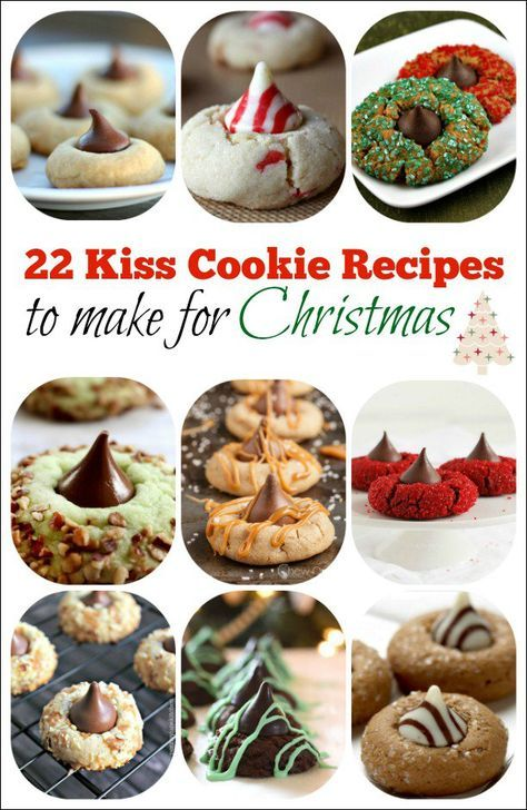 22 Hershey's Kiss Cookie Recipes to make for the holidays this year!