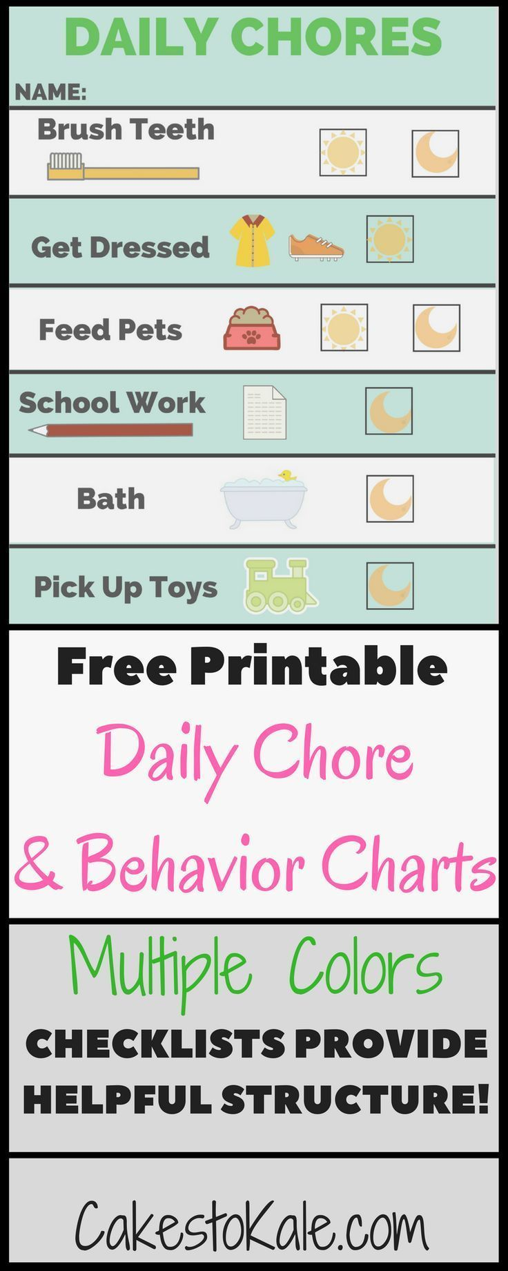 Daily C Chart And Behavior Free Printable Helpful For Pas Kids