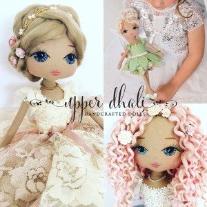 Imagine an art doll as a reflection of your special someone, special moments & memories. A unique piece of art that tells a magical story..... YOUR STORY.    Handcrafted by doll designer Lou Peters in her home …