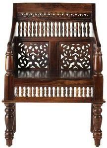 """Hand carved Maharaja Chair, 33""""HX25""""W, WALNUT"""
