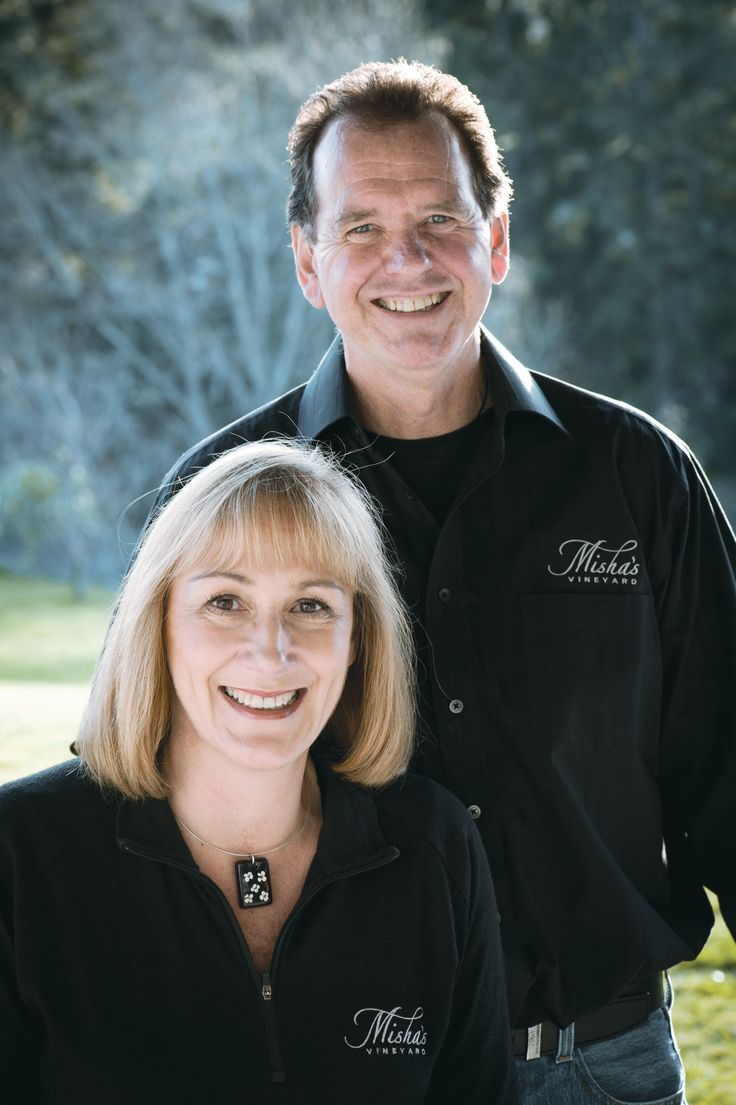 Founder & director's of Misha's Vineyard, the lovely Misha & Andy Wilkinson.