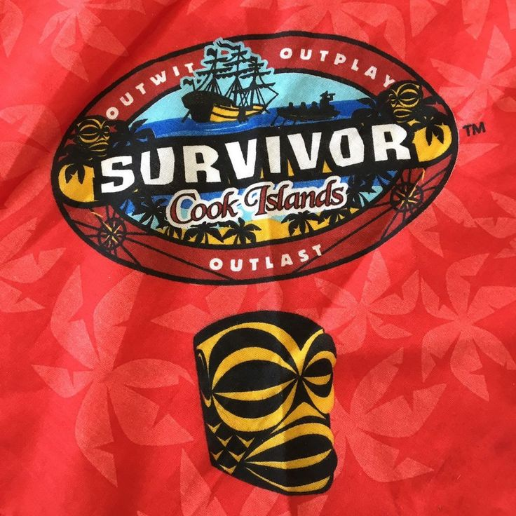 Survivor Cook Islands Red Aitutaki Tribe Bandana Buff 2006 Rare Outwit Outplay