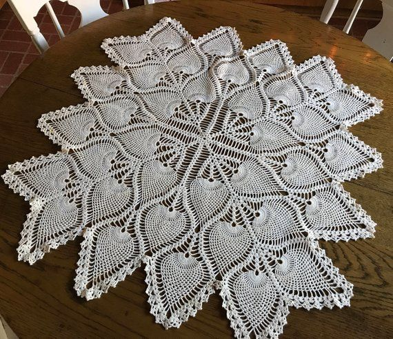 White Crossing Paths Doily